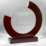 Glass and Wood Award Clear Glass Awards