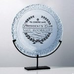 De Soto Plate Cobalt Glass Awards