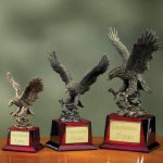 Eagle on Piano Finish Base Eagle Trophy Awards