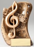 Curve Action Series Sculpted Antique Gold Music Resin Trophy Music Trophy Awards