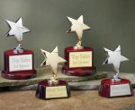 Star with Piano Finish Base Series Patriotic Awards