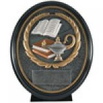 Premium Resin Ovals -Lamp of Knowledge Scholastic Trophy Awards