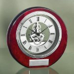 Circle Clock with Exposed Gears in Chrome Secretary Gift Awards