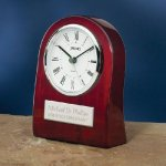 Piano Wood Clock with Curved Profile Secretary Gift Awards
